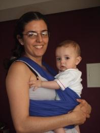 Elis, aos 5 meses, no wrap